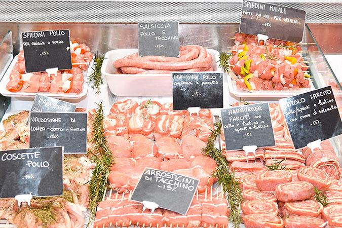 banco vendita carne spaccio carni celadina